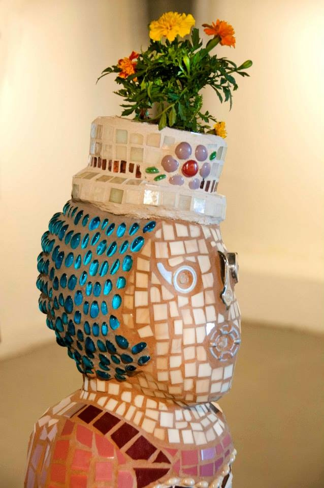 """Ethel"" Mixed Media Mosaic Sculpture"
