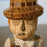 """The Farmer"" Mixed Media Mosaic Sculpture"